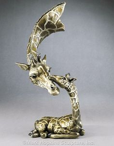 Little One Bronze Giraffe Sculpture from artist Mark Hopkins