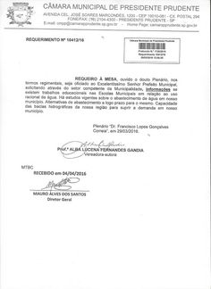 Profª Alba Lucena: Requerimento: Estudos sobre o abastecimento de águ...