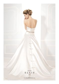 Ellis Bridals Wedding Dress - 19031. To see our Ellis Bridal Collection visit: http://www.lovethatfrock.com/wedding/the-bride/wedding-dresses/?designer=24