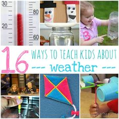 Kids Crafts Science Student - 16 Ways To Teach Kids About Weather. Weather Activities For Kids, Preschool Weather, Weather Crafts, Music Activities, Infant Activities, Preschool Activities, Seasons Activities, Educational Activities, Lessons For Kids