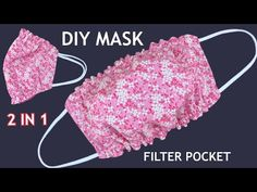 New Style Diy Breathable Face Mask 2 IN 1 With Filter Pocket Easy To Make Sewing Tutorial At Home | - YouTube Sewing Hacks, Sewing Tutorials, Sewing Crafts, Easy Face Masks, Diy Face Mask, Hand Embroidery Patterns, Sewing Patterns Free, Mouth Mask Design, Serger Sewing