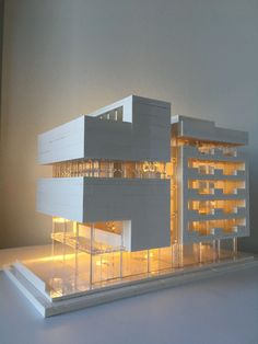 Lego Architecture, Lego Architecture Studio, Harm Bron, Amsterdam, BrickLed #propose Architecture Model Making, Futuristic Architecture, Architecture Design, Kitchen Design Open, Lego Mindstorms, Lego Design, Legos, Lego City, Lego Building