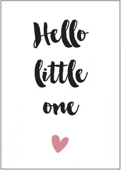 Kaart girl | Hello little one Formaat: A6 (105 mm x 148 mm) Papier: HVO Offset 340 grams - € 1,25
