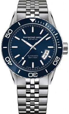 @raymondweil  Watch Freelancer Mens Pre-Order #add-content #basel-17 #bezel-unidirectional #bracelet-strap-steel #brand-raymond-weil #case-depth-11-8mm #case-material-steel #case-width-42-5mm #date-yes #delivery-timescale-call-us #dial-colour-blue #gender
