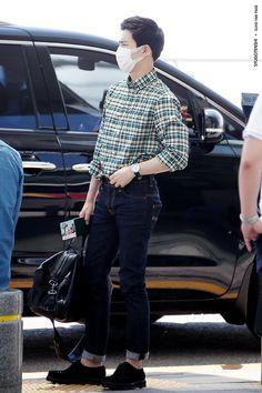 150717: EXO Suho (Kim Joonmyun); Incheon Airport to Beijing Airport #exok #fashion #style #kpop