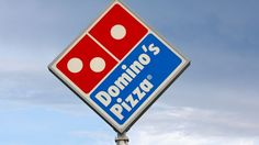 There's a domino within the logo and their name is domino's pizza. The square shape also represents a pizza box. Pizza Logo, Logo Restaurant, Fast Food Restaurant, Pizza Restaurant, Restaurant Deals, Kfc, Dominos Pizza Coupons, Branding, Domino Pizza