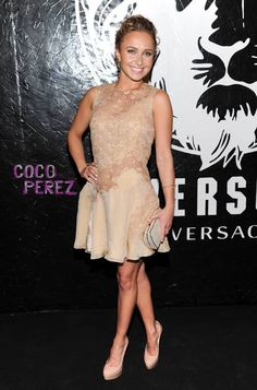 Hayden Panettiere wears Versace to the JW Anderson for Versus by Versace collection launch.