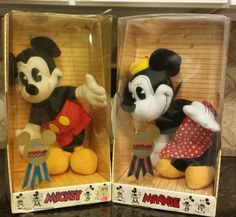 Walt Disney Nostalgia 1930's Mickey And Minnie Mouse 14 Inch Plush In Box by KatsVintageTreasures on Etsy