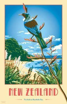 Image result for old nz bird art tourism posters