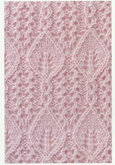 TOT TRICOT: puntos fantasia con hojas love love love this stitch pattern Lace Knitting Stitches, Cable Knitting, Crochet Stitches Patterns, Knitting Charts, Lace Patterns, Knitting Designs, Knitting Patterns Free, Free Knitting, Knitting Projects