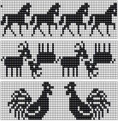 Free Fair Isle Knitting Pattern Charts A Double Knitting Patterns, Fair Isle Knitting Patterns, Knitting Charts, Loom Patterns, Knitting Stitches, Knitting Designs, Knitting Ideas, Motif Fair Isle, Fair Isle Chart