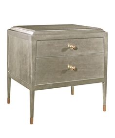 Hickory Chair Andrew Side Table in Modern French Gray #nightstand