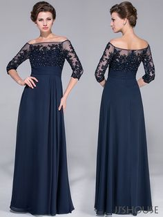 The off-the-shoulder design is so unique! #jjshouse #motherdress #dress