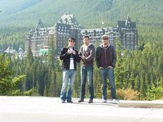 Enjoying the beauty of Banff with my brothers, JD Scott and Drew Scott . The view was pretty spectacular.