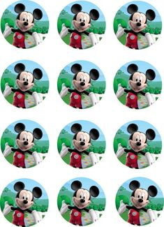 Mickey Mouse Clubhouse Edible Image Cupcake Toppers
