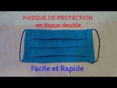 Protective mask fabric double - easy and quick to make Protective Mask, Diy Mask, Free Sewing, Diy Clothes, Tapas, Sewing Projects, Crochet, Fabric, Youtube