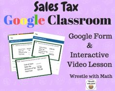Sales Tax (Google Form & Interactive Video Lesson!) Fractions Worksheets, 1st Grade Worksheets, Math Classroom, Google Classroom, Envision Math, Language Arts Worksheets, Teaching Math, Teaching Ideas, Maths Solutions
