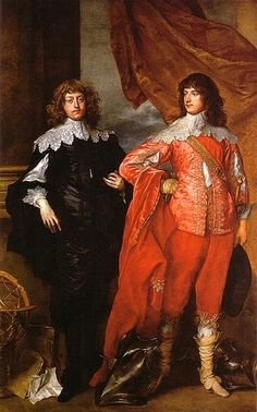 The same brothers, /Lord John Stuart and His Brother/. a few years after, on the eve of the English Civil War (c. 1641).  Anthony Van Dyck