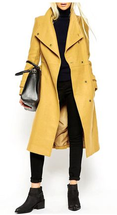 https://www.stylewe.com/product/vintage-yellow-trench-coat-5021.html STEPHANIE Vintage Yellow Trench Coat $61.99