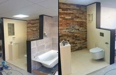 Another view of the progress done by the Pura Bathrooms Group team in Ware Bathroom Centre. Watch this space for more updates soon! #bathroom #showroom #deuco #imex #pura #flova #puracast