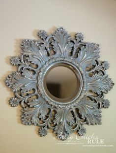Annie Sloan Chalk Paint - It's Not Just For Furniture - dry brushed mirror - #chalkpaint #ascp #anniesloan artsychicksrule.com