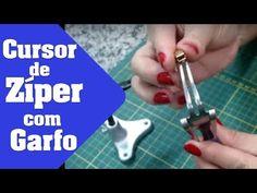 Como colocar cursor em zíper de metro usando um garfo - YouTube
