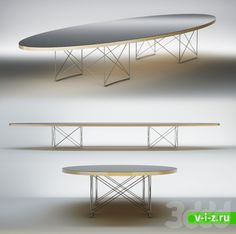 Vitra / ETR Elliptical Table Rod Base