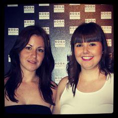 Nuestra diseñadora Alex Llana y la periodista Inma Aznar en el Showroom de Valencia. Ambas con ropa de BOGA VALENTIA