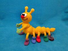 Caterpillar crochet toy amigurumi PDF pattern von jasminetoys