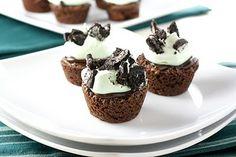 Fudge Mint Brownie Cupcakes