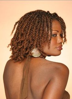natural hair styles | african american twist hairstyles Twisted hairstyle with color ...
