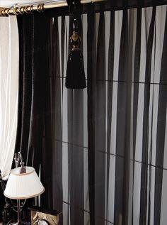 高档外贸尾单黑色窗纱窗帘布精品黑纱帘 办公橱窗客厅高密度特价-淘宝网