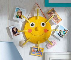 The best DIY projects & DIY ideas and tutorials: sewing, paper craft, DIY. Diy Crafts Ideas DIY Sunshine Photo Holder - Display your favorite vacation memories with this cheery sunshine photo holder. Kids Crafts, Sun Crafts, Summer Crafts For Kids, Craft Stick Crafts, Diy For Kids, Craft Projects, Arts And Crafts, Paper Crafts, Spring Crafts