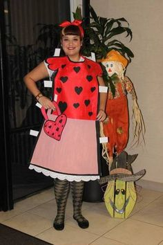 What a clever idea! Paper doll as a costume, I vote yes.