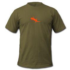 Gecko Männer T-Shirt von American Apparel Klassisch geschnittenes T-Shirt für Männer, 100% Baumwolle, Marke: American Apparel