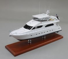 """20"""" Desktop Model of 82' Yacht. Imagine - A Custom-Crafted, Museum Quality Model of YOUR Yacht - There is Nothing On Earth Like It! Our Specialty Is Custom Yacht Ship Models Let us create a replica model of YOUR Boat Today"""
