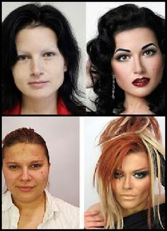 Before & after makeup by Vadim Andreev
