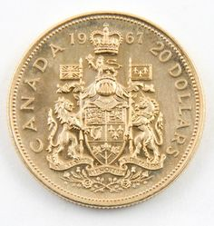 Canada's Gold 20 dollar bullion coin of 1967 ~ Beautiful! Bullion Coins, Silver Bullion, Canadian Coins, Coin Display, Gold And Silver Coins, Silver Prices, World Coins, Rare Coins, Coin Collecting