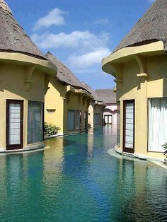 Step outside and take a swim - amazing pool resort in Bali, Indonesia