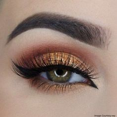 Thanksgiving Bold And Fun Fall Glitter Eye Makeup This Holiday Eye Makeup