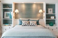Small Master Bedroom Interior Design Ideas , Your bedroom shouldn't just be the location where you sleep. If you truly have a little bedroom and there are many things scattered here and there, yo. Small Master Bedroom, Master Bedroom Design, Home Decor Bedroom, Bedroom Ideas, Diy Bedroom, Bedroom Designs, Master Bedrooms, Bedroom Shelves, Bedroom Built Ins