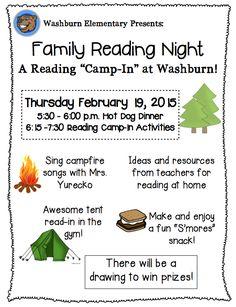 Family Reading Night! - rmersch