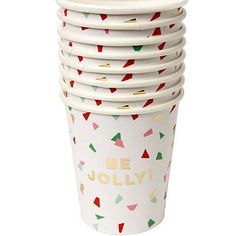 Be Jolly Confetti Party Cups