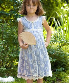 Take a look at this Periwinkle Natalya Dress - Toddler & Girls by April Cornell on #zulily today!