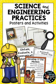 These science and engineering posters and introduction activities help support STEM learning and the new science practices put out by the NGSS. Science Activities For Kids, Stem Science, Science Resources, Science Lessons, Teaching Science, Teaching Resources, Science Notes, Weird Science, Science Ideas