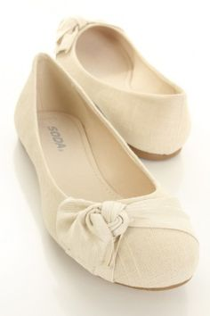 Features linen material, rounded closed toes, cushioned footbed, knot decor, and finished with traction soles. Cute Flats, Cute Shoes, Me Too Shoes, Bobbies Shoes, Baskets, Sexy Party Dress, Party Dresses, Summer Shoes, Spring Shoes