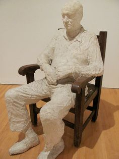 GEORGE SEGAL, MAN IN THE ARMCHAIR, 1969 Plaster Sculpture, Sculpture Art, Sculpture Ideas, George Segal, Pop Art Movement, Tape Art, Man Sitting, Hyperrealism, Art Club