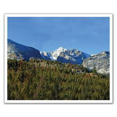J.P. London Design, Inc. POSLT2145 Into the Boreal Forest Mountain Rocky Range uStrip Lite Removable Wall Decal