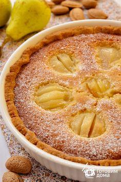 Рецепт Пирог с грушами и миндальным кремом (франжипаном)