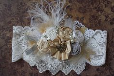 Silver and Gold Vintage Inspired Headband by AldonasBoutique,